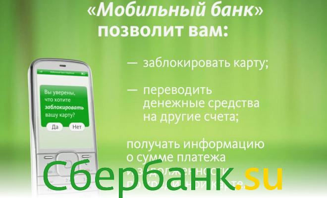 Заблокировать карту через мобильный банк Сбербанка
