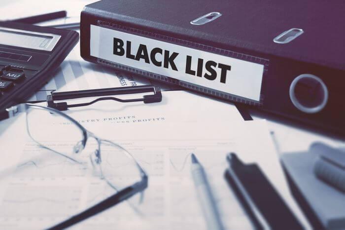 черный список сбербанка россии